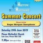 Harrow Harmony - Summer Concert 29th June 2019 7.30pm Pinner Methodist Church